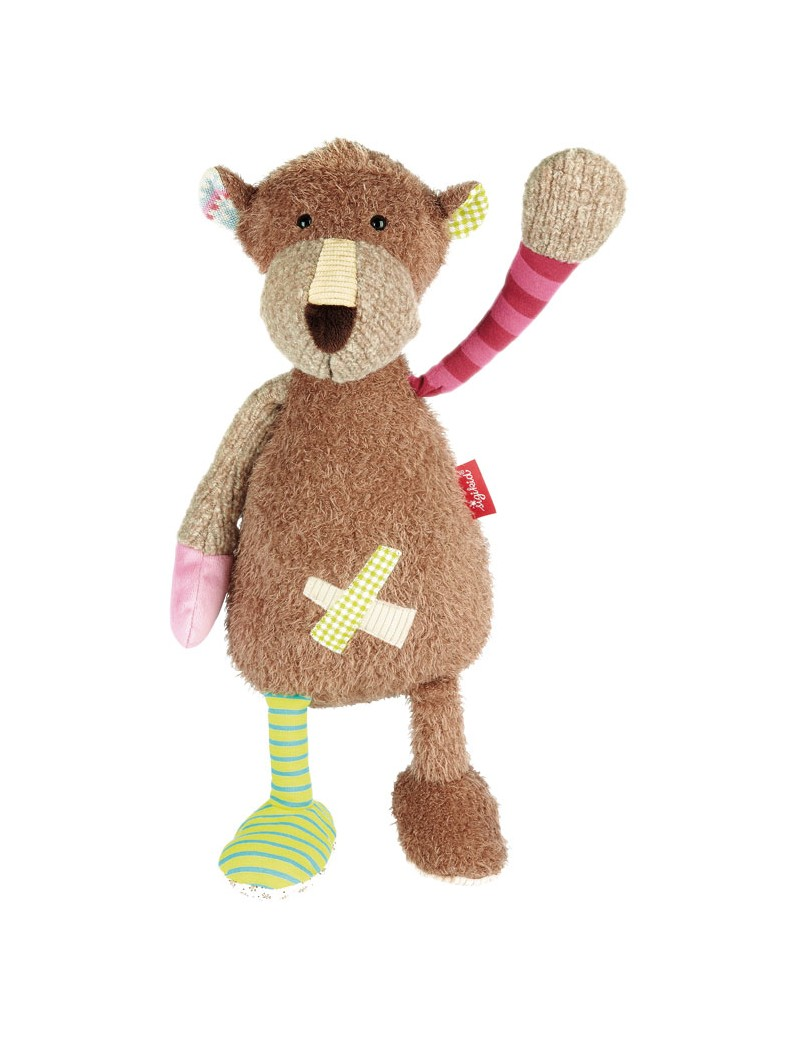Peluche Ours 40 cm Patchwork Sigikid -