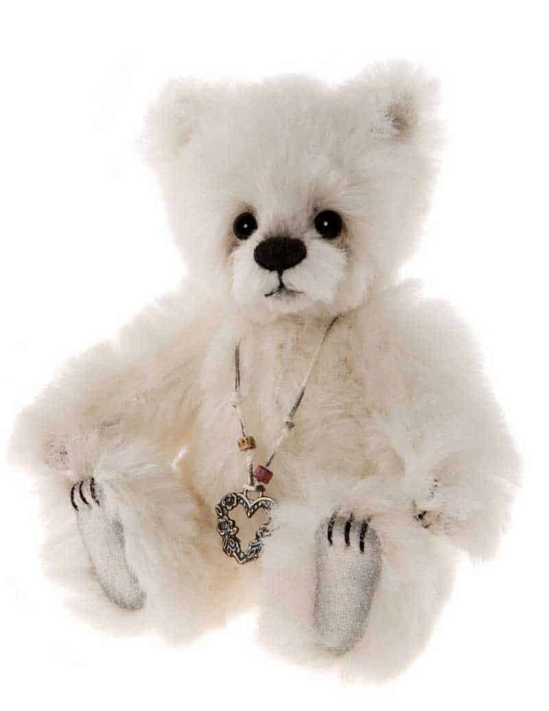 Peluche Ours Blanc Miniature Tic Tac 18 cm Charlie Bears -