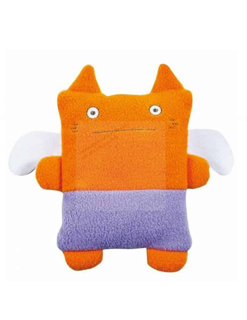 Doudou Chat Monstre Orange Lilas 20 cm Trousselier -
